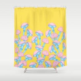 The Garden of Wonderland Mushroom Shower Curtain