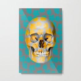 Skull Pop Art Metal Print