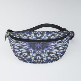 Blue knit pattern kaleidoscope 3D Fanny Pack