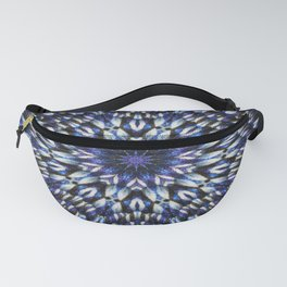 Blue knit pattern kaleidoscope 3D Fanny Pack