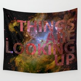 Galactic Positivity Wall Text Wall Tapestry