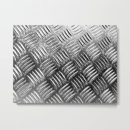 Shiny metal industrial pattern Metal Print