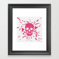 Girly Pink Glitter Abstract Skull Cool Photo Print Framed Art Print