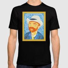 Selfie Van Gogh Mens Fitted Tee Black MEDIUM