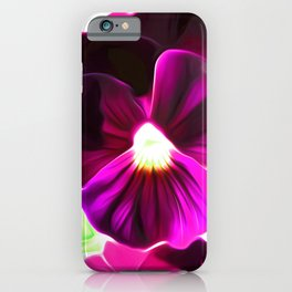 Painted Pansy - Red iPhone Case
