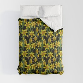 Spring Daffodils Floral Pattern Comforters