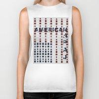 american flag Biker Tanks featuring American Flag by sophiabrooks
