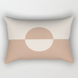 Sandstorm Beige Creamy Off White Circle Design 2 2021 Color of the Year Canyon Dusk Smokey Cream Rectangular Pillow