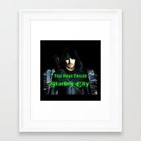 green arrow Framed Art Prints featuring Arrow by SwanniePhotoArt