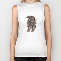 hare Biker Tanks featuring Hare by Meredith Mackworth-Praed