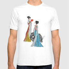 ancient Chinese lady watercolor  MEDIUM White Mens Fitted Tee