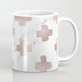 Rose gold marble - scandinavian cross Coffee Mug