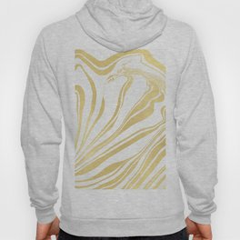 Bronze Copper Gold Rush Marble Ink Swirl Hoody
