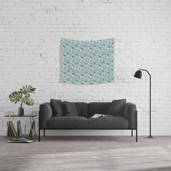Chibilock Pattern Wall Tapestry