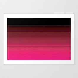 Pink is the New Black is the New Pink Art Print