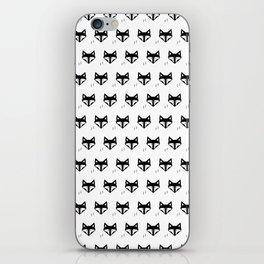 Scandinavian Fox Black And White iPhone Skin