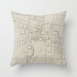 Vintage Map of Princeton NJ (1915) Throw Pillow