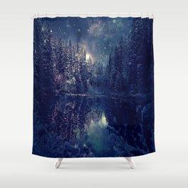 Winter Forest Deep Pastel Shower Curtain