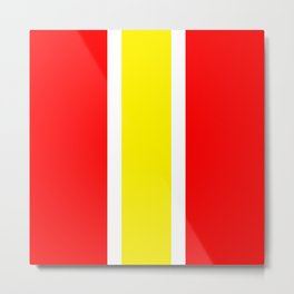 TEAM COLORS 10...YELLOW ,RED Metal Print