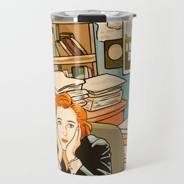 Dana Scully sit to the Fox Mulder's office Travel Mug