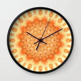 Mandala orange 2 Wall Clock