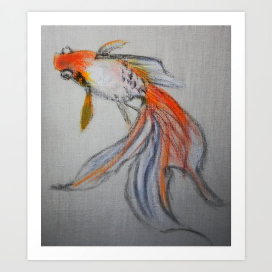 Goldfish Pond (close up #10) Art Print
