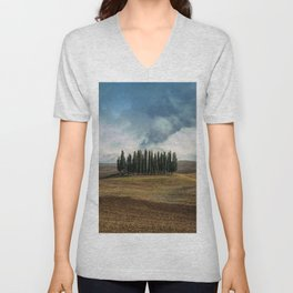 Trees of Tuscany Unisex V-Neck