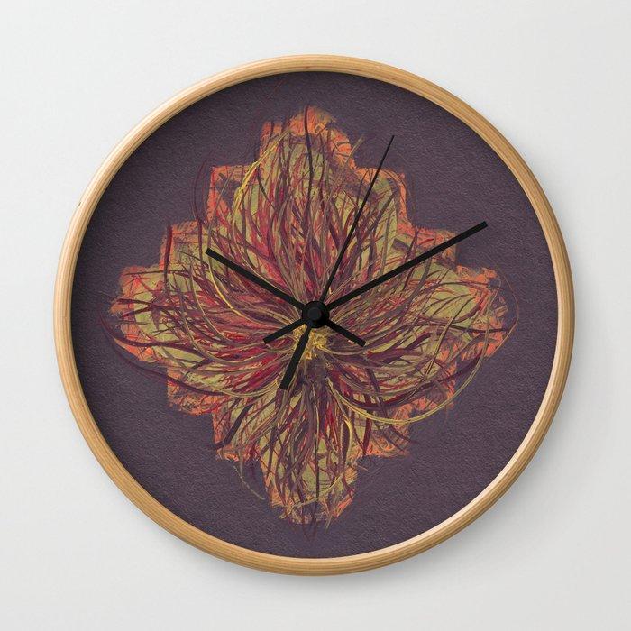 Alien Flower Wall Clock