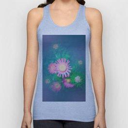 Constellation Pink Flowers Unisex Tank Top