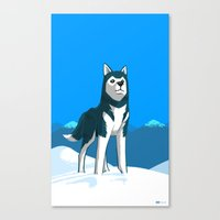 husky Canvas Prints featuring Husky by Art of Ahmed Gamal