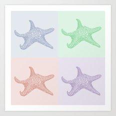 Coastal Stars Art Print