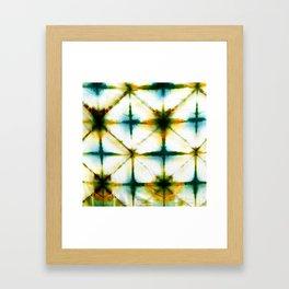 Golden Grid Shibori #8 Framed Art Print