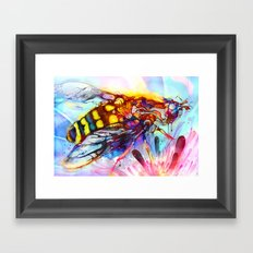 Bee Color-indulged Version Framed Art Print