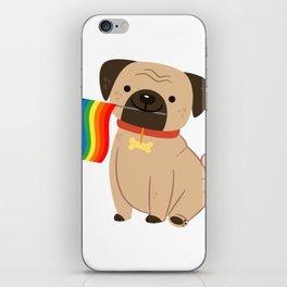 LGBT Gay Pride Flag Pug - Pride Gay iPhone Skin