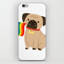 LGBT Gay Pride Flag Pug - Pride Gay iPhone Skin