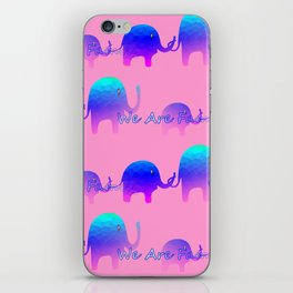 We Are Family - Elephants iPhone Skin
