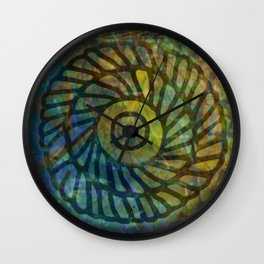 Windows in the Forest - Detail Wall Clock