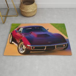 1969 427 Stingray Vette Big Block in Candy Apple Red Rug