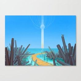 Golden Walkway to the Beyond Canvas Print