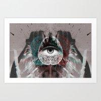 millenium falcon Art Prints featuring millenium by torbergson
