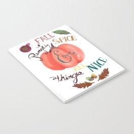 Pumpkin Spice Fall Notebook
