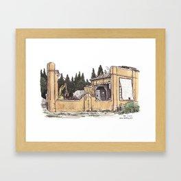 UCD Boiler Building under demolition (2012) Framed Art Print