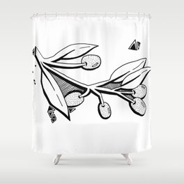 French Olives Shower Curtain