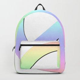 CND Peace Symbol Soft Pastel Rainbow Backpack
