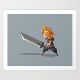 Cloud Strife Art Print