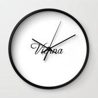 vienna Wall Clocks featuring Vienna by Blocks & Boroughs