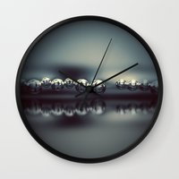 voyage Wall Clocks featuring Voyage by Sortvind