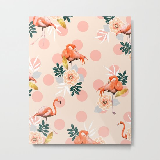Flamingo Jazz #society6 #decor #pattern Metal Print