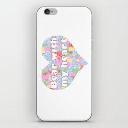 Bear with my heart iPhone Skin