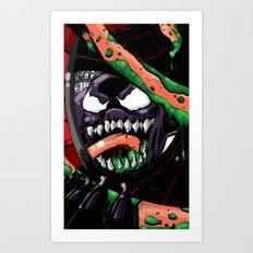 To Catch A Spider (Purple Symbiote) Art Print